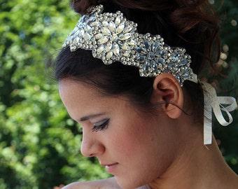 Wedding Crystal Rhinestone  Headband,  Wedding  Veils, Vintage Inspired, Wedding Hair  Accessory,  Bridal Hair,  Headpiece,  Bride, Hair