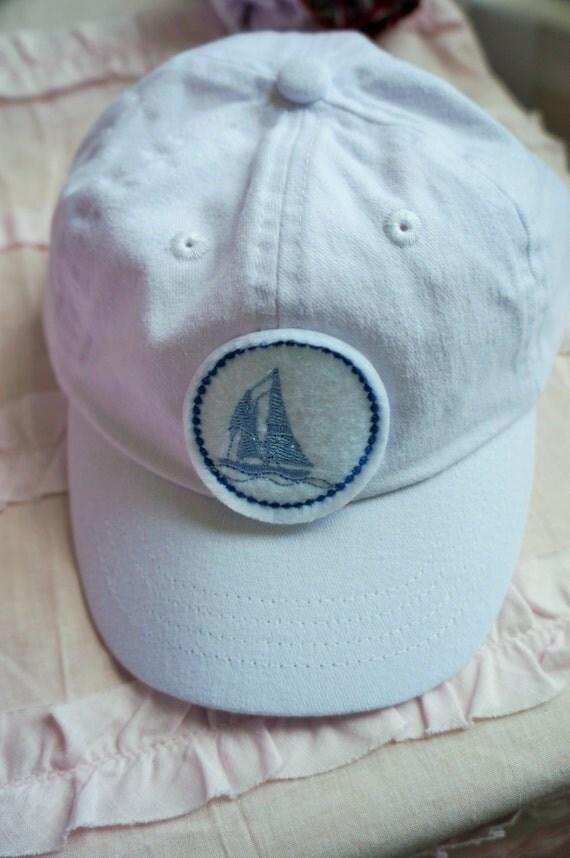 baby boy hat baby baseball cap sail boat theme by