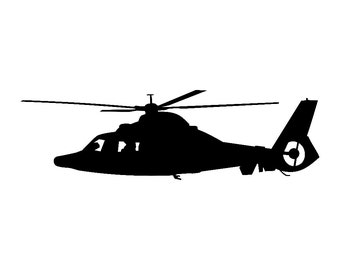 Eurocopter AS365 Dauphin 2 Helicopter Vinyl Sticker