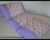 Dance, Ballet, Pillow Bed,  Sparkling & Glittery, Girls Pillow bed, Children's Pillow Bed, Pillow Mattress, Sleepover Bed