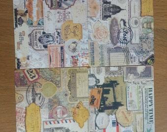 Vintage Postcards Set - 9 Cards
