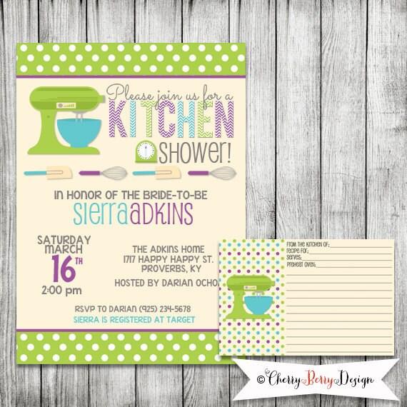 Kitchen Bridal Shower Invitation Printable By