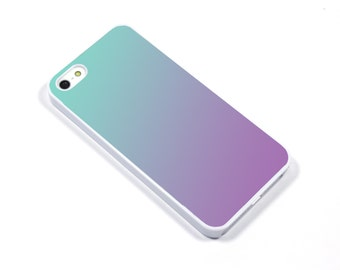 iPhone 5/5s iPhone 5c iPhone 6/6plus Samsung Galaxy S3 S4 S5 iPod touch 4th/5th Gen - Ombre pool mint purple - p17