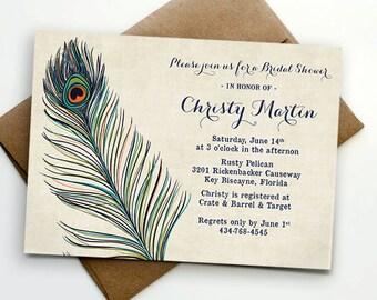 Peacock bridal shower Etsy