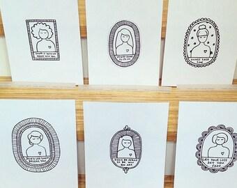 Pick 3 Heartgirl art prints and save 20%
