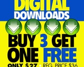 Digital Download VALUE Pack: BUY 3, Get One FREE