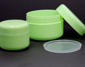 Empty Cosmetic Jar Containers Cream Lotion Bottle Green 50 / 100 ml