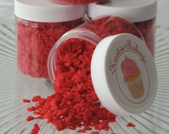 Red Heart Sprinkles are perfect on Valentine's Day cupcakes, cookies, brownies and much more.