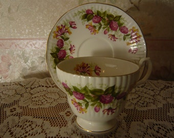 Vintage Royal Minster Cup and Saucer Fine Bone China Made in England