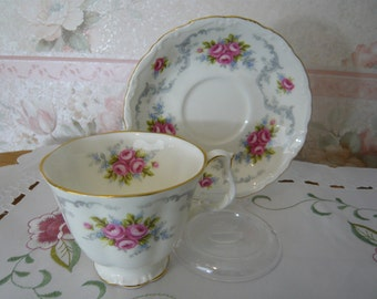 Vintage Royal Albert TRANQUILITY Cup and Saucer circa 1980s