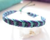 Purple & Turquoise Bracelet Handmade Friendship/Surf Macrame Bracelet