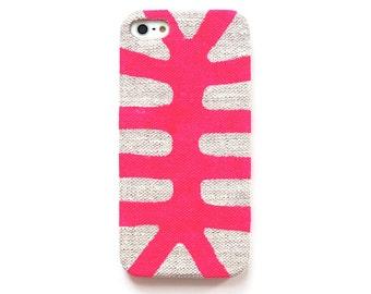 FABRIC - Neon pink iPhone 5s case, Fun iphone 5c case, Tribal iPhone 6 case, Bright galaxy s5 case