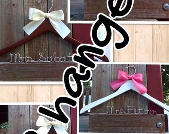 TWELVE wedding hangers / SHIPS From USA / Personalized Wedding Hanger / Brides Hanger