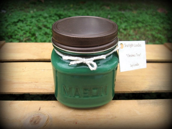 items similar to christmas tree scented soy candle on etsy
