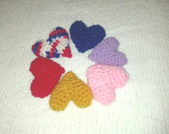 2 Crochet Heart Cat Toys Handmade Free Shipping