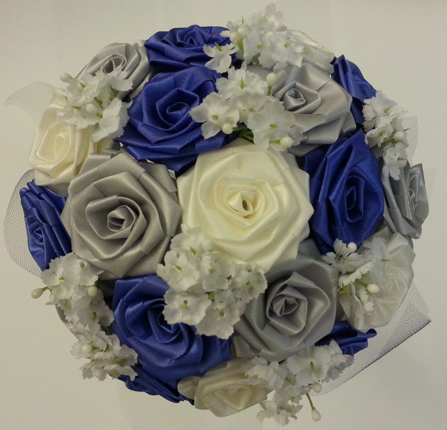 Create your own ribbon flower bouquet bridal bouquet for Create your own flower arrangement
