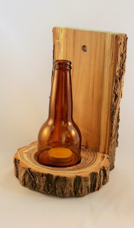 Handmade Wooden Candle Holder Natural Wooden By