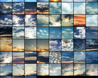 PART I - 63 High Resolution Gorgeous Sky Overlays - For Photographers! Beautiful, Amazing , Must Have