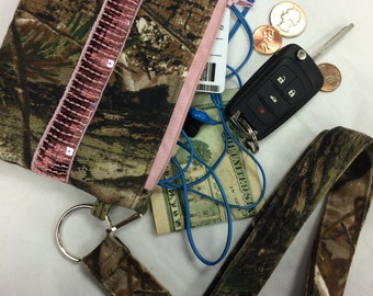 Realtree Camo Coin Purse iPhone ID Holder and Lanyard