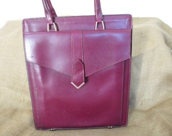 Genuine vintage SCHLESINGER BROTHERS California saddle leather tote bag