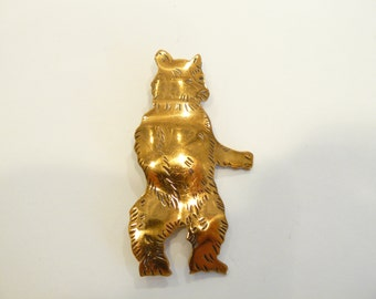 Whimsical Vintage Figural Grizzly Bear / Teddy Bear Brooch / Pin