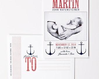 Nautical Baby Announcement