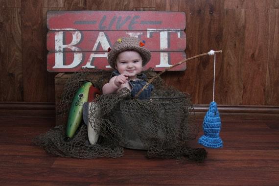 Baby fishing hat pattern fisherman fish gifts crochet for Toddler fishing hat