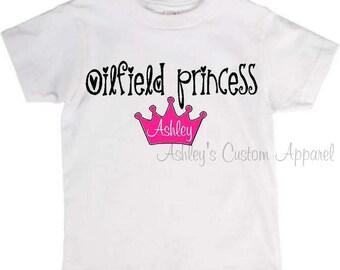 Oilfield Princess - Crown - Custom Oilfield - Kids Oilfield Shirt - Oilfield Shirt - Oil Rig - I Get My Daddy Back - Oilfield Daddy