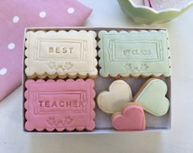 Best Teacher Cookie Gift Set - personalised gift for teacher, end of term gift, teachers gifts, education gift,