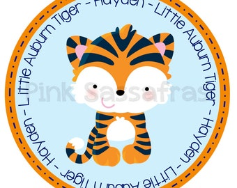 Little Auburn Tiger Iron On Transfer