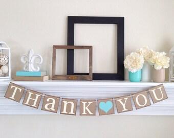 Merci - Merci rustique bannière - Merci signe - mariage rustique - mariage signes - Merci Photo Prop pour les cartes - cartes mariage décor