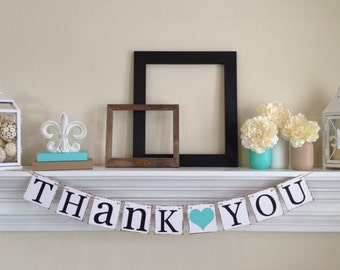 THANK YOU BANNER -Thank You Sign- Wedding Banner Photo Prop - Wedding Sign - Wedding Decoration