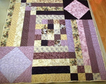 Purple Lap Quilt- One of a Kind