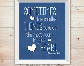 Sometimes the Smallest things Inspirational Quotes for Children Nursery Wall Decor Boys Room Wall Art Baby Boy Nursery Decor Blue Nursery