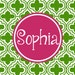 Personalized Placemat - preppy girl's 12x18 laminated placemat