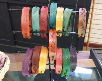 Braided Leather Inspirational Bracelet