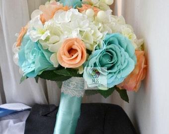wedding bouquet artificial real touch flower rose, hydrangea,sakura,etc