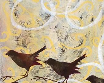 Birds with Kandinsky Circles (yellow)