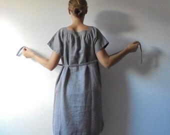 Grey Vintage Dress.Women Dress.Oversize Dress.