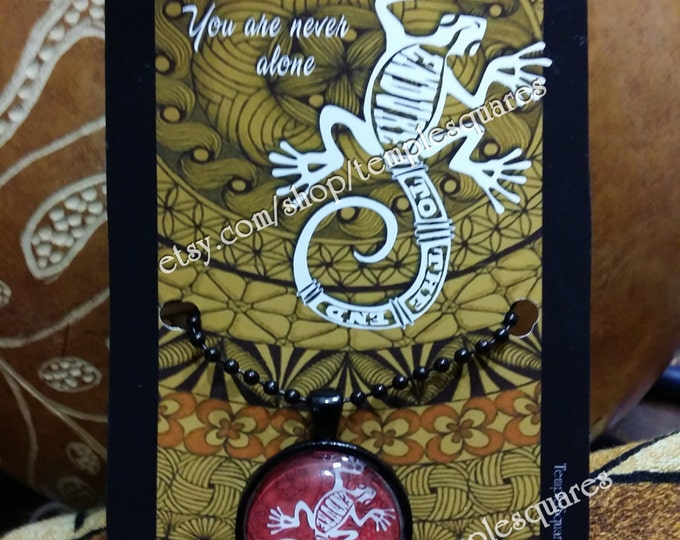 "Beautiful ""Endure To The End"" LDS Pendant Necklaces Polynesian Style Gecko"