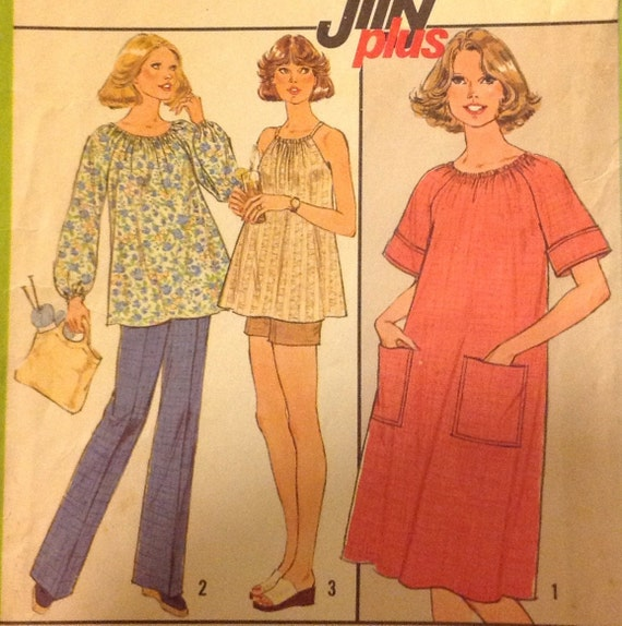 Simplicity 8381 MATERNITY PLUS DRESS Or Top In Misses