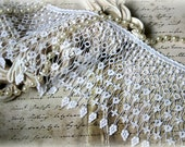 "Wide Ivory Venice Lace Trim for Bridal, Altered Art, Costumes, Lace Jewelry, Dresses, Sashes, Sewing, Crafts approx. 5"" GL-132"