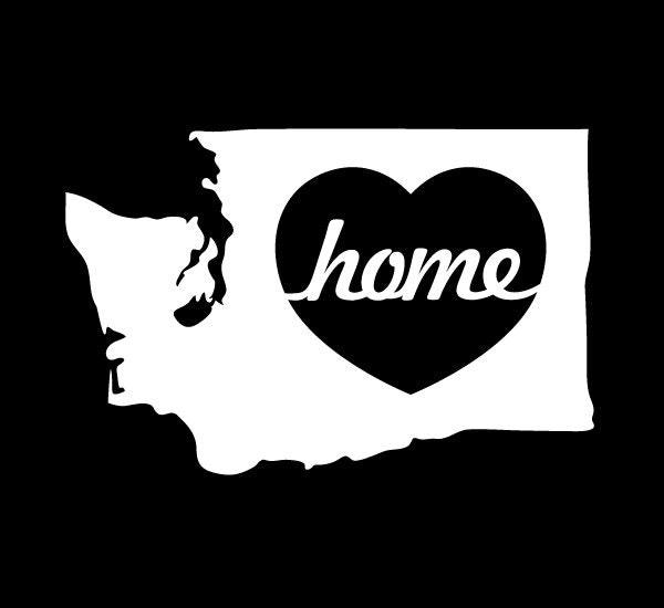 5 washington state home heart vinyl sticker car decal. Black Bedroom Furniture Sets. Home Design Ideas