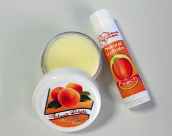 Natural Handmade Lip Balm - Peach
