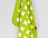 Green Swiss Cross Swaddle