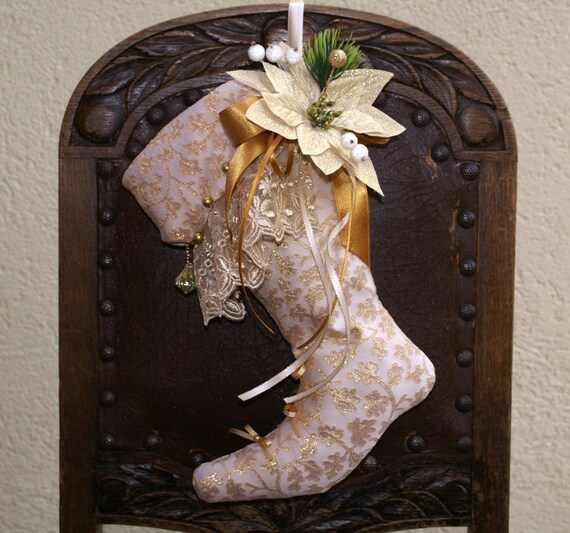Easy Elegant Handmade Christmas Decorations: Items Similar To Christmas Stocking, Christmas Décor