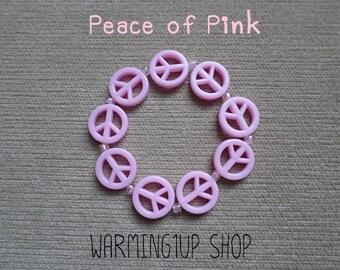 Peace Beads Bracelet (Pink)