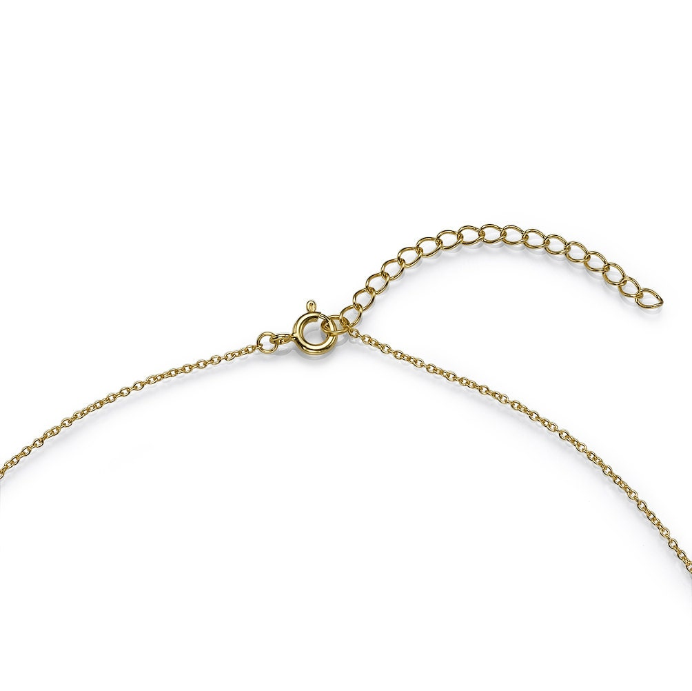 Double-Hearted Necklace in Gold Plating, Hand Made Jewelry