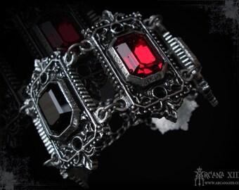 Handmade Gothic Bracelet with Swarovski, Dreidian Countess Bracelet