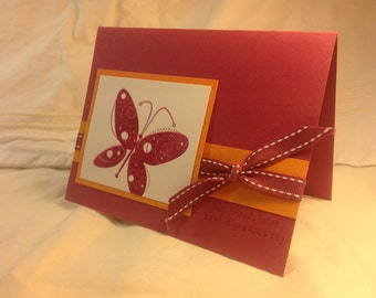 Stampin' Up Handmade Greeting Card- Butterfly-Best Friends Listen to What You Don't Say